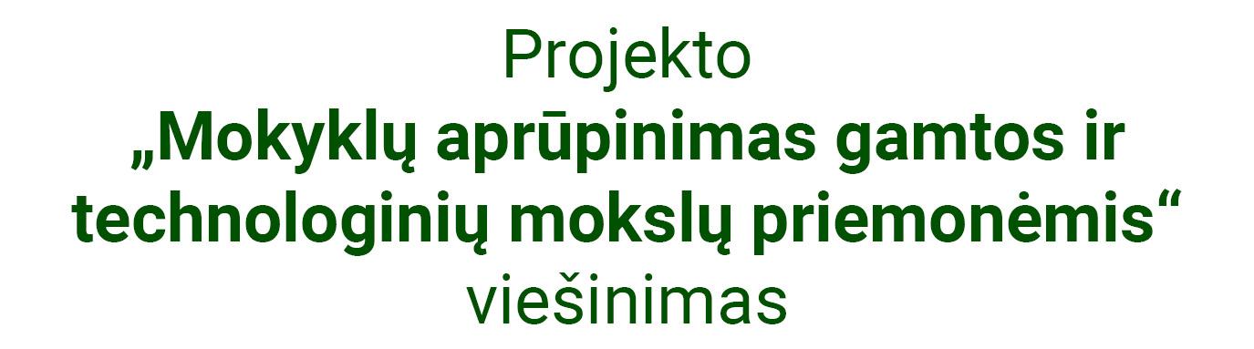 Projekto viešinimas